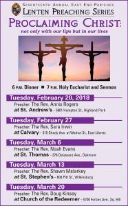 Lenten Series Calendar 2018